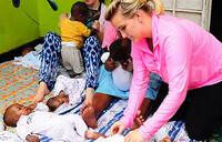 US, UK volunteers tend to Sanyu Babies