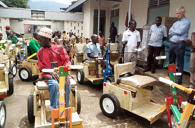 he wheelchairs are an affordable option to the standard versions hoto by eofrey yamwongera