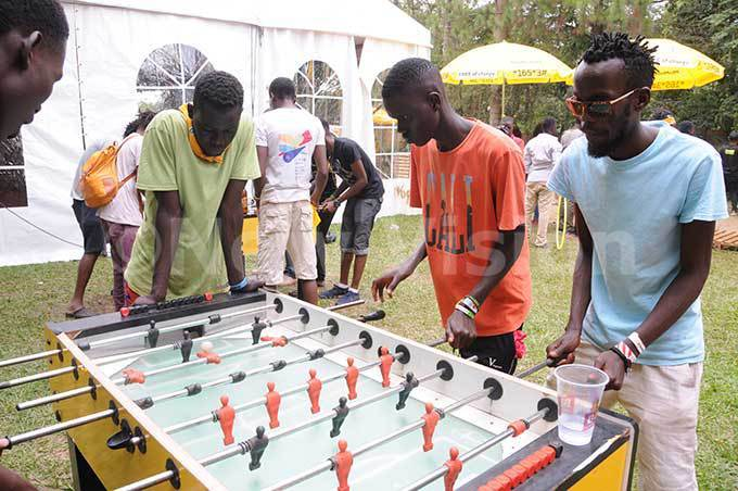 utdoor games were also among the various activities at the festival