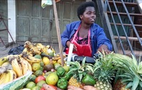 Roadside fruit vendors target city walkers