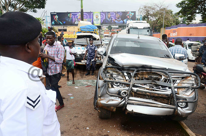 ome of the vehicles that were involved in  the accident hoto by tuart iga