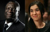 World leaders applaud joint Nobel Peace Prize winners