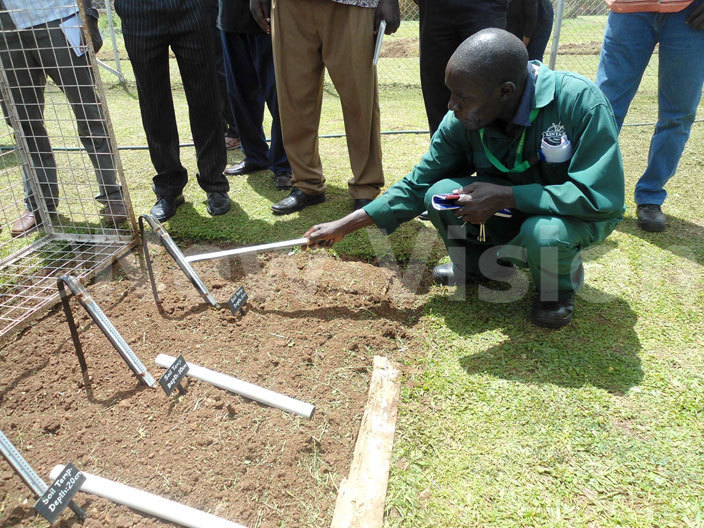 he operator explains how the soil temperatures are monitored during and after the dry spell