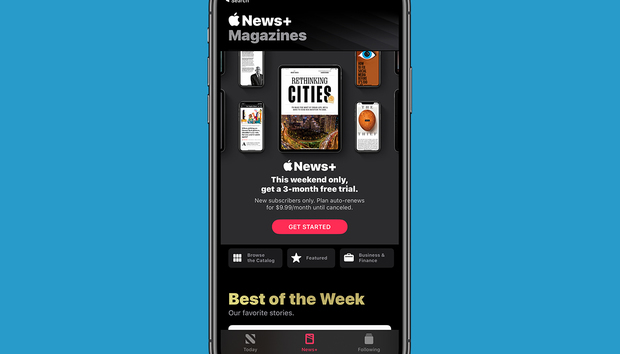 This weekend, new Apple News+ users can score a three-month free trial