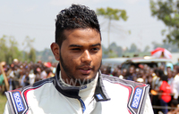 Rauf ready for the Oryx Rally in Tanzania