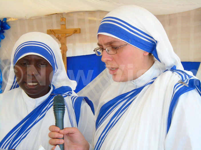 issionaries of harity nuns take a chant a responsorial psalm during mass