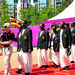 Uganda welcomed to Olympic Village in style