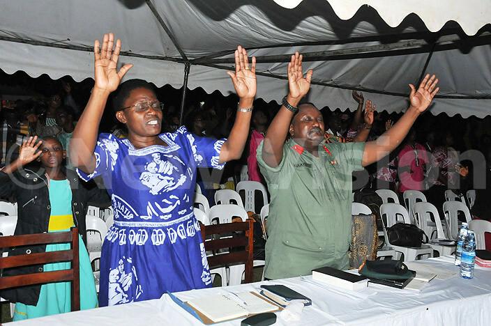 ol ulayigye during new year prayers at amirembe