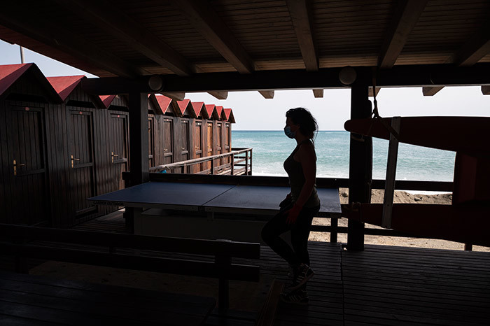 he owner of a bathing facility prepares beach cabins and customers areas for the upcoming summer season on ay 14 2020 in lbissola arina near avona iguria during the countrys lockdown aimed at curbing the spread of the 19 infection caused by the novel coronavirus hoto by