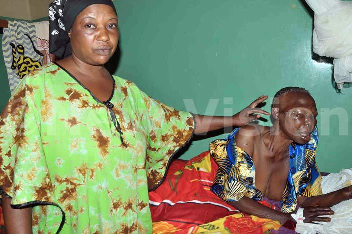 he old woman with her daughter at kozi hospital