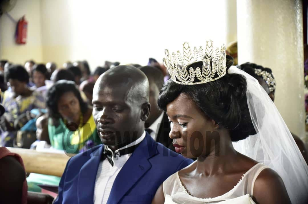 ouples say their vows during a mass service held at ll aints athedral ampala in akasero on riday ctober 18 2019