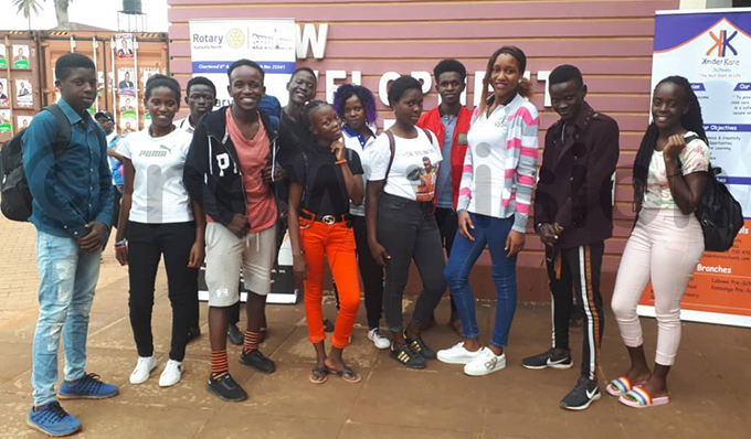 uganda oyal nstitute dance group arrives for the competition hoto by aria amala