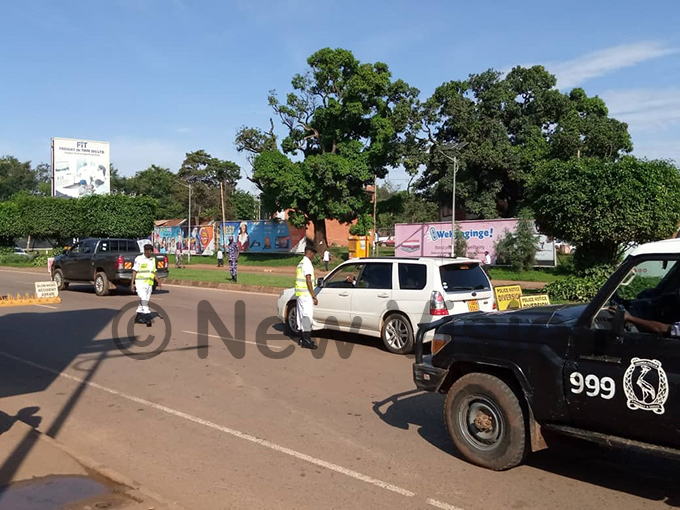 olice at inja road enforces ban on private cars hotos by avid umu