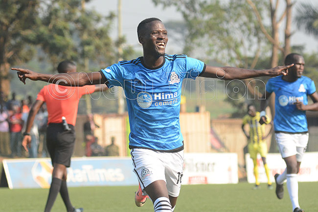 an of the atch wemezi celebrates one of his two goals