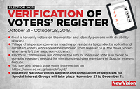 Do you know what the Voter verification exercise entails?