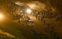Rainfall hampers rescue for children stuck in Thai cave