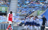 Brighton's late winner sinks Arsenal