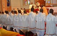 Cardinal Wamala cautions clerics against sacerdotal pomp
