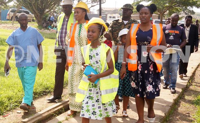 mugo ebecca ulituuka princesses and hospital staff touring the project
