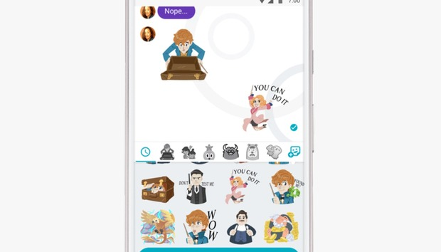 Google's Allo gets Fantastic Beasts stickers, background
