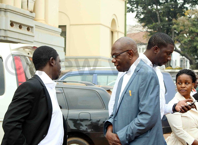 adislaus wakafuuzi  one of arah abikolos lawyers pictured outside igh ourt today hoto by acheal assuuna