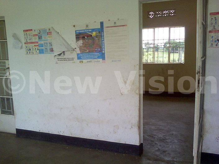 he empty rooms at the newly commissioned health center