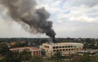 Blast shakes Nairobi mall, smoke pours from building