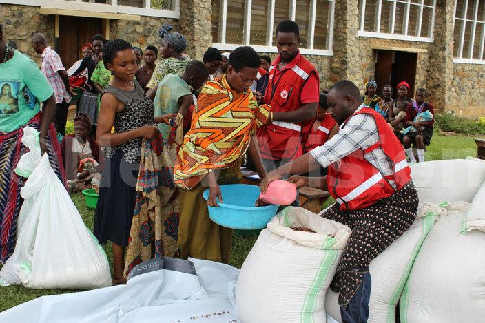 s at ugombwa atholic church receive food items