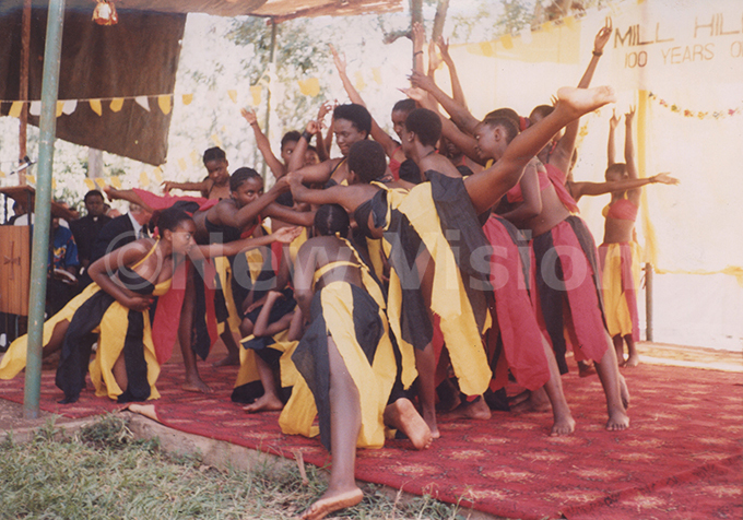 amasagali ollege students entertainning guests at the 100 years celebration