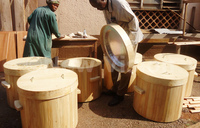 Oketch kicked out poverty with wooden flasks