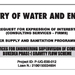 The Ministry of Water and Environment
