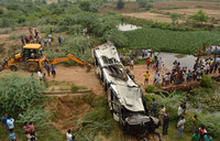 29 die as bus falls off India's 'highway to hell