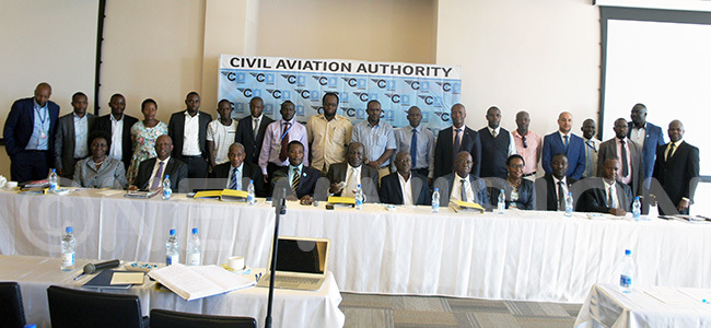 vetting committee and company representatives posing for a group picture