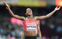 Kenya's Kipyegon wins world 1500m gold