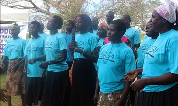 Community activists from bululu sub county while performing to sensitize people about gender based violence 1 350x210