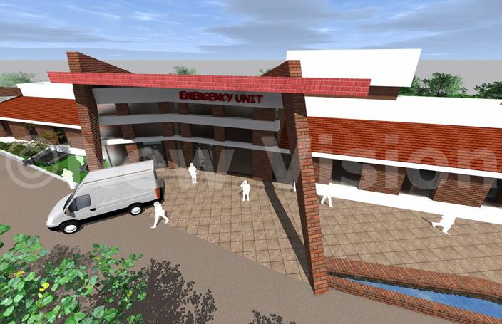 n artistic impression of kozi ospitals proposed mergency nit