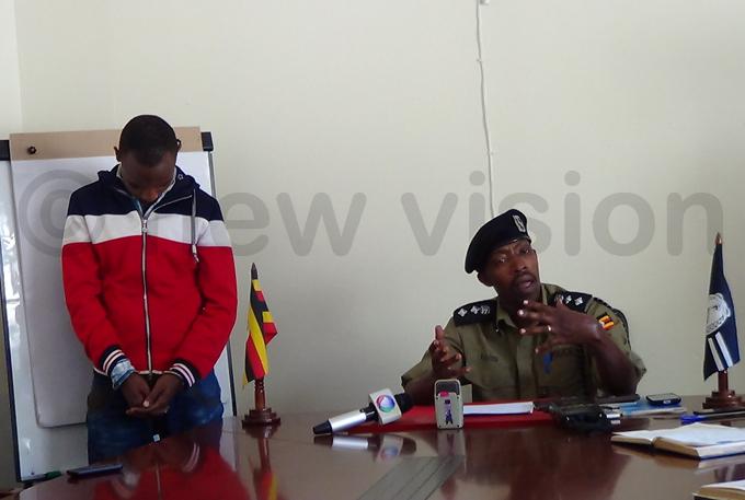 he ampala etropolitan spokesperson milian ayiwa parading the conman hoto by uth asejje