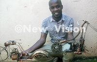 Arinaitwe riding on creativity to make miniature motorbikes