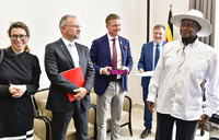 Museveni urges Danish investors to invest in clean water supply