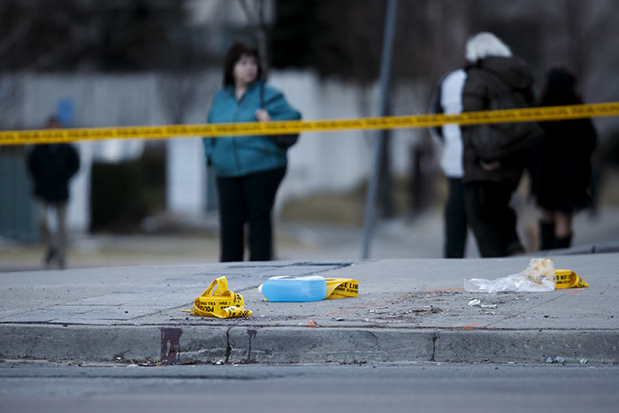 lood remains at the scene on onge t at inch ve after a van plowed into pedestrians on pril 23 2018 in oronto anada  ole urstonetty mages