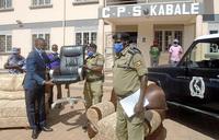 Bishop Bakashaba donates furniture to Police