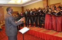 Justice Dollo praises Christ the King Church choir