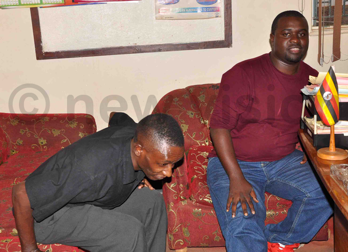 unior  and his colleague eoffrey bosa during interrogation at olice  headquarters in ibuli hoto by shraf asirye