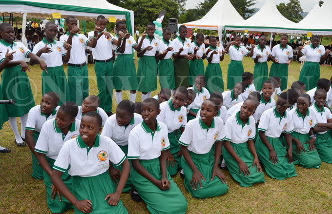 tudents of t aria oretti  atende recite a poem on girlchild education during the celebrations