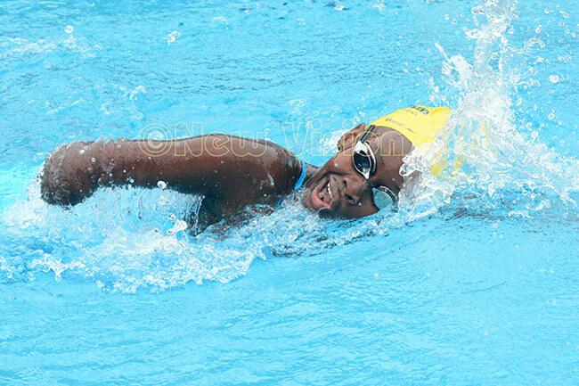 ara swimmer ukundakwe in freestyle action