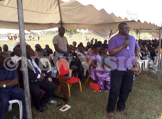 ulanyah addressing mourners at iroi village in ukedea district