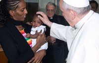 Sudanese Christian woman spared death meets Pope