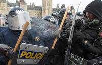 Clashes over outside Canada's Parliament