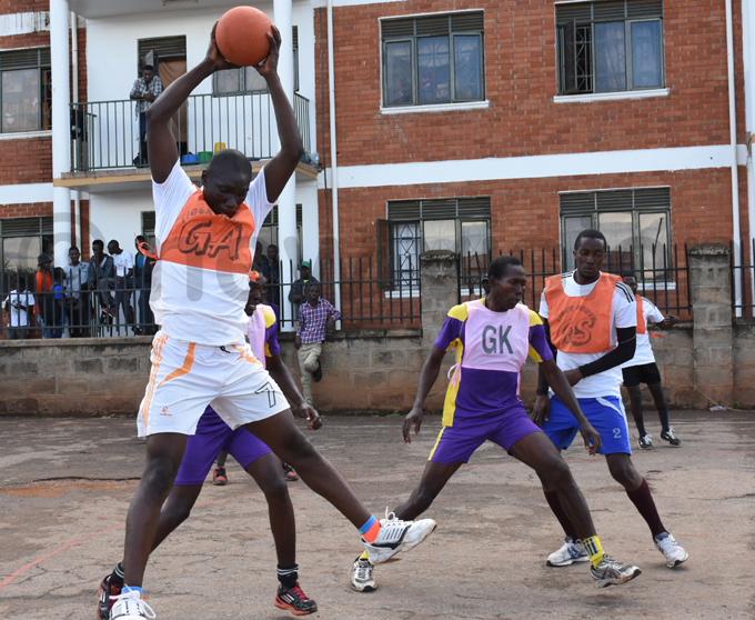 akerere player receives the ball during the game against edtar hoto by ohnson ere
