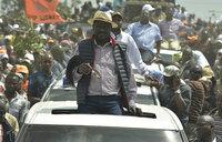 Tear gas greets returning Raila, three shot dead